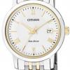 นาฬิกาข้อมือผู้หญิง Citizen Eco-Drive รุ่น EW1584-59A, Sapphire Japan Two-Tone
