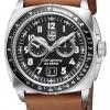 นาฬิกาผู้ชาย Luminox รุ่น XA.9447, P-38 Lightning Chronograph Leather Band Swiss Quartz Men's Watch