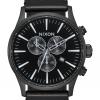 นาฬิกาผู้ชาย Nixon รุ่น A405756, Sentry Chrono Leather