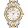 นาฬิกาผู้หญิง Citizen Eco-Drive รุ่น EW2364-50A, Diamond 100m