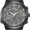 นาฬิกาข้อมือผู้ชาย Citizen Eco-Drive รุ่น AT4117-56H, Nighthawk A-T Black Sapphire Radio Perpetual Chronograph 200m