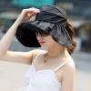 หมวกแฟชั่นพร้อมส่ง : หมวกปีกบานกว้างกันแดดสีดำ พักเก็บง่ายแบบสวยน่ารักๆจ้า