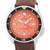 นาฬิกาผู้ชาย Seiko รุ่น SKX011J1-LS12, Automatic Diver's Ratio Brown Leather 200M