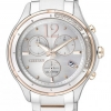 นาฬิกาข้อมือผู้หญิง Citizen Eco-Drive รุ่น FB1375-57A, Chronograph Japan Sapphire Diamonds Watch