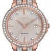 นาฬิกาผู้หญิง Citizen Eco-Drive รุ่น EW2348-56A, Silhouette Crystal Swarovski Rose Gold