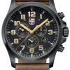 นาฬิกาผู้ชาย Luminox รุ่น XL.1949, Land Atacama Field Chronograph Leather Band Swiss Quartz Men's Watch