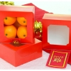 กล่องขนม กล่องสแน็ค หน้าต่าง สีแดง snack