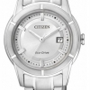 นาฬิกาผู้หญิง Citizen Eco-Drive รุ่น FE1030-50A, Elegant Stainless Steel Silver WR 50m