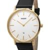 นาฬิกาผู้ชาย Orient รุ่น FGW05003W, Slim Collection Minimalist Leather Strap Quartz Men's Watch