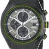 นาฬิกาข้อมือผู้ชาย Citizen Eco-Drive รุ่น CA0435-51E, HTM Chronograph 100m Black Sport