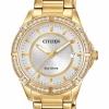 นาฬิกาผู้หญิง Citizen Eco-Drive รุ่น FE6062-56A, POV Swarovski Elegant
