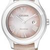 นาฬิกาข้อมือผู้หญิง Citizen Eco-Drive รุ่น FE1040-05W, Citizen Eco-Drive Leather 50m