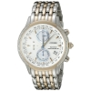 นาฬิกาผู้หญิง Citizen Eco-Drive รุ่น FC5006-55A, World Chronograph A-T Atomic Silver Dial Stainless Steel Two Tone Women's Watch