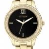 นาฬิกาผู้หญิง Citizen รุ่น EL3082-55E, Black Dial Analog