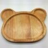 # จานไม้ทรงหูหมี
