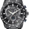 นาฬิกาข้อมือผู้ชาย Citizen Eco-Drive รุ่น AT4007-54E, Black Radio Controlled AT Chronograph