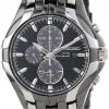 นาฬิกาผู้ชาย Seiko รุ่น SSC139, Seiko Core Solar Stainless Steel Chrono Black Dial