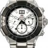 นาฬิกาข้อมือผู้ชาย Orient รุ่น STV00002W0, Enterprise Japan Quartz 100m White Gent's Sports Watch