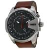นาฬิกาผู้ชาย Diesel รุ่น DZ4321, Mega Chief World Time Brown Leather