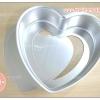 พิมพ์เค้กปอนด์ รูปหัวใจ พิมพ์เค้กถอดก้น อลูมิเนียม 3 ปอนด์ 8 นิ้ว