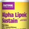 Jarrow Formulas Alpha Lipoic Sustain 300 with Biotin 300 mg 60 Sustain Tablets