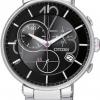 นาฬิกาข้อมือผู้หญิง Citizen Eco-Drive รุ่น FB1200-51E, Ladies Black Chronograph Sapphire WR 30m Japan Watch
