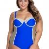 ชุดว่ายน้ำคนอ้วนพร้อมส่ง :ชุดว่ายน้ำคนอ้วนแฟชั่นวันพีชสีน้ำเงินสีสันสดใส sexyมากๆจ้า:รอบอก50-60นิ้ว เอว40-48นิ้ว สะโพก44-54นิ้วจ้า