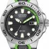 นาฬิกาข้อมือผู้ชาย Citizen Eco-Drive รุ่น BN0090-01E, Scuba Fin ISO Cert. 200m Professional Divers Watch