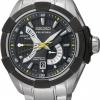 นาฬิกาข้อมือผู้ชาย Seiko รุ่น SRH015P1, Velatura Sapphire Kinetic Direct Drive Black IP Sports Watch