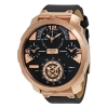 นาฬิกาผู้ชาย Diesel รุ่น DZ7380, MACHINUS Leather Rose Gold 4 Time Zone Men's Watch