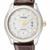 นาฬิกาข้อมือผู้ชาย Citizen Eco-Drive รุ่น AW1034-08A, WR 50m Multi Date Display Leather Watch