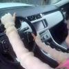 ถุงมือใส่ขับรถพร้อมส่ง : ถุงมือแฟชั่นใส่ขับรถสีขาว ใส่ขับรถกันแสงแดด แบบน่ารักๆจ้า
