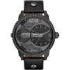 นาฬิกาผู้ชาย Diesel รุ่น DZ7328, Mini Daddy Dual Time Dial Black Leather Men's Watch