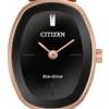 นาฬิกาผู้หญิง Citizen Eco-Drive รุ่น EX1413-55E, Silhouette Bangle Swarovski Rose Gold