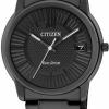 นาฬิกาข้อมือผู้หญิง Citizen Eco-Drive รุ่น FE6015-56E, Elegant Stealth All Black IP WR 50m Women's Watch