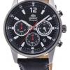 นาฬิกาผู้ชาย Orient รุ่น RA-KV0005B00C, Sports Chronograph Quartz Leather Strap Japan Made Men's Watch