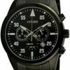 นาฬิกาข้อมือผู้ชาย Citizen Quartz รุ่น AN8095-52E, Chronograph Black IP