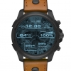 นาฬิกาผู้ชาย Diesel รุ่น DZT2002, Diesel On Full Guard Touchscreen Smartwatch Leather Strap Men's Watch
