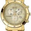 นาฬิกาข้อมือผู้หญิง Citizen Eco-Drive รุ่น FB1342-56P, AML Chronograph Gold Tone Elegant Watch