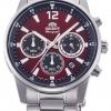 นาฬิกาผู้ชาย Orient รุ่น RA-KV0004R00C, Sports Chronograph Stainless Steel Quartz Japan Men's Watch