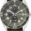 นาฬิกาข้อมือผู้ชาย Citizen Eco-Drive รุ่น AP4011-01W, Military Green Multi Dial 100m Canvas
