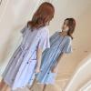 ชุดคลุมท้องแฟชั่นเกาหลี พิมพ์ลายสวย ผ้าเนื้อดี ใส่สบายไม่ร้อน มีกระเป๋าข้าง เชือกปรับขนาดครรภ์ M L XL XXL