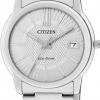 นาฬิกาข้อมือผู้หญิง Citizen Eco-Drive รุ่น FE6010-50A, Ladies WR 50m Elegant Watch