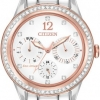 นาฬิกาข้อมือผู้หญิง Citizen Eco-Drive รุ่น FD2016-51A, Silhouette Swarovski Crystal Elegant