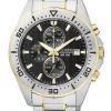 นาฬิกาผู้ชาย Citizen รุ่น AN3464-55E, Casual Chrono Mens Analog Silver Watch