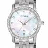 นาฬิกาผู้หญิง Citizen รุ่น EU6030-56D, Mother Of Pearl Swarovski Stainless Steel
