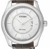 นาฬิกาข้อมือผู้ชาย Citizen Eco-Drive รุ่น AW1031-31A, WR 50m Leather Watch