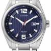 นาฬิกาข้อมือผู้ชาย Citizen Eco-Drive รุ่น AW1240-57M, Blue Sapphire Super Titanium 100m