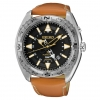 นาฬิกาผู้ชาย Seiko รุ่น SUN055, Prospex Kinetic GMT Brown Leather Strap Men's Watch