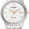 นาฬิกาข้อมือผู้หญิง Citizen Eco-Drive รุ่น EW2314-58A, Japan Sapphire Elegant Watch
